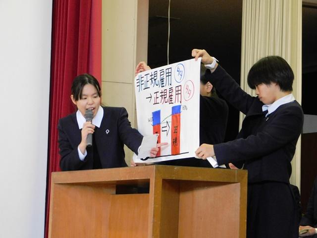 「主権者学習」で「福岡県の知事を選ぶ模擬選挙」を行いました