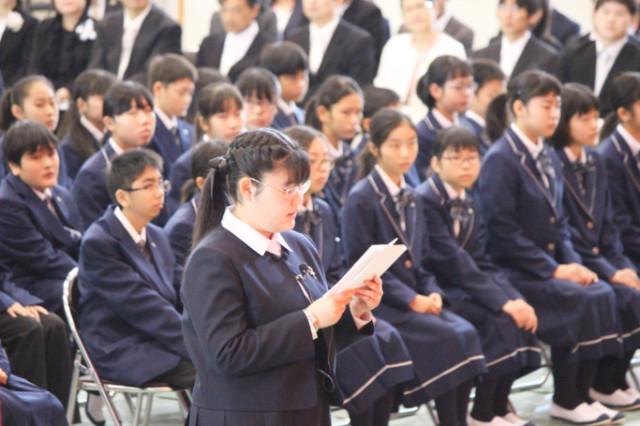 2019/04/07入学式・一貫生進学式を行いました