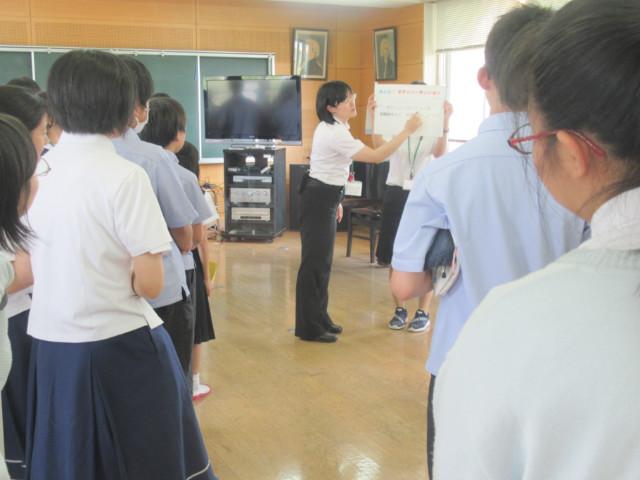 2019/06/21 中学2年生が久留米聴覚特別支援学校との交流会を行いました