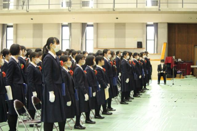 2020/03/02 第57回高等学校卒業式を行いました